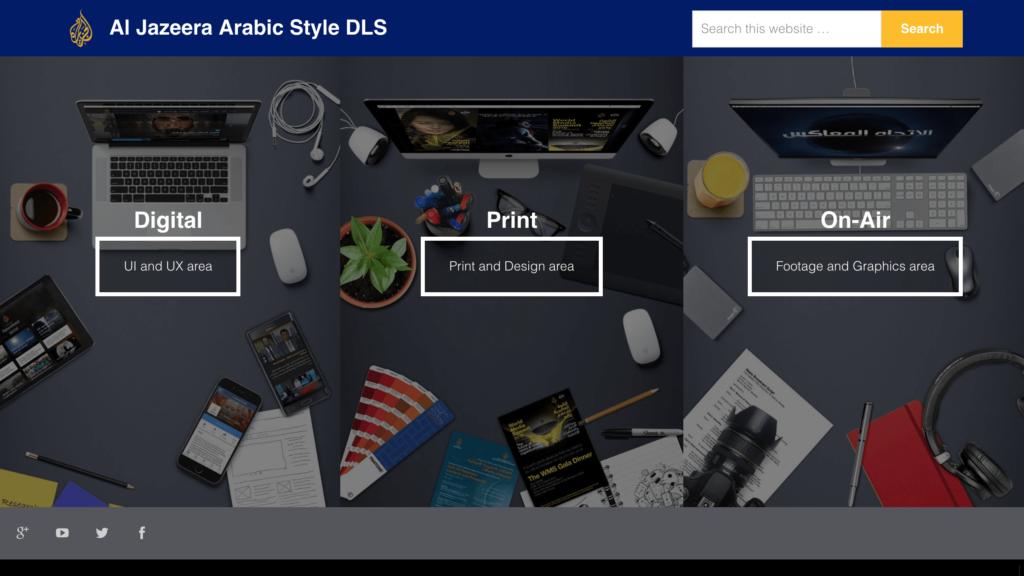 Al Jazeera Arabic Design Language System