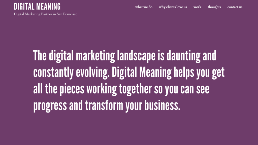 Digital Meaning
